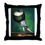 Norwich Cropper Blue Pied Throw Pillow