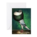 Norwich Cropper Blue Pied Greeting Cards (Pk of 20