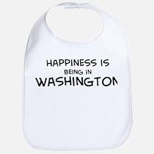 Happiness is Washington Bib