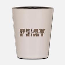 Real Men Pray - Sable Shot Glass