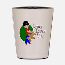 Jesus Loves Me Shot Glass