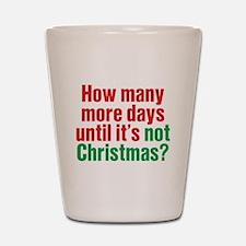 Not Christmas Shot Glass
