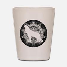 White Wolf Shot Glass