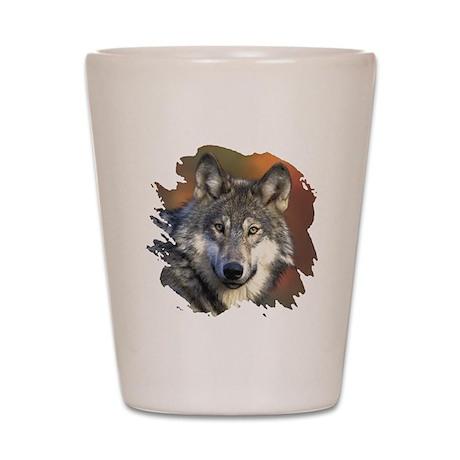 Gray Wolf Shot Glass