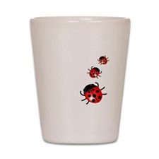 Ladybugs Shot Glass