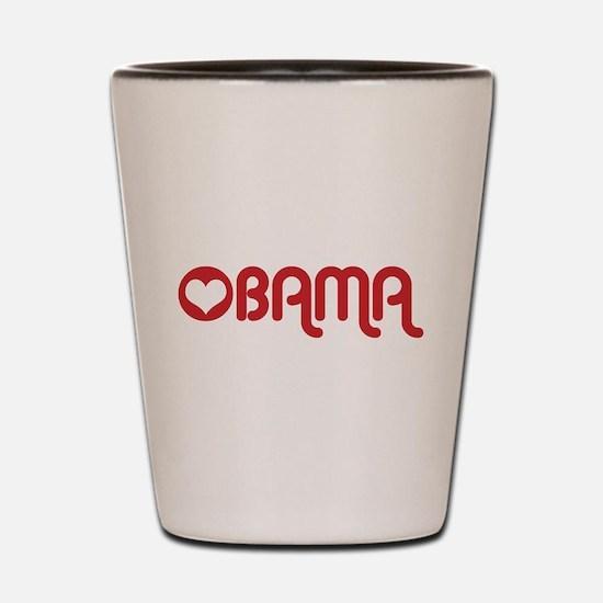 Red Heart Obama Shot Glass