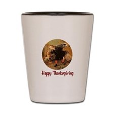 Boy and Thanksgiving Turkey Shot Glass