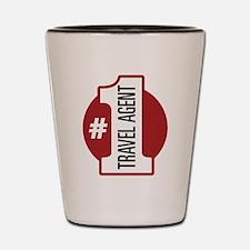 #1 Travel Agent Shot Glass