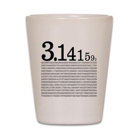 3.1415926 Pi Shot Glass
