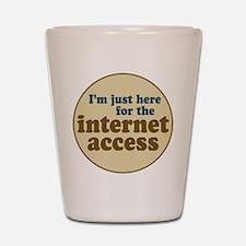 Internet Access Shot Glass