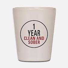 1 Year Clean & Sober Shot Glass