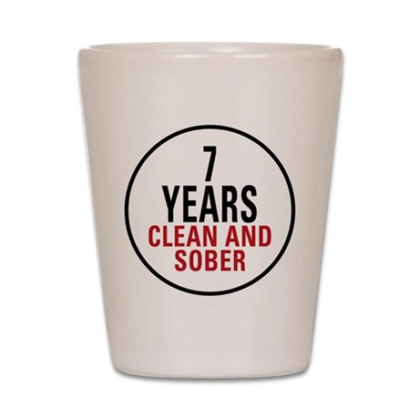 7 Years Clean & Sober Shot Glass