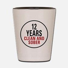 12 Years Clean & Sober Shot Glass