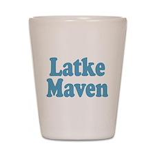 Latke Maven Shot Glass