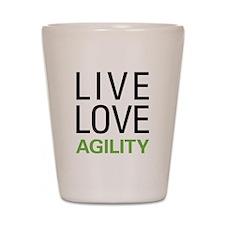 Live Love Agility Shot Glass