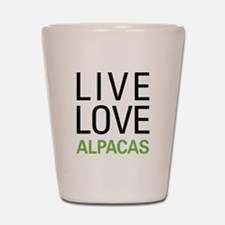 Live Love Alpacas Shot Glass