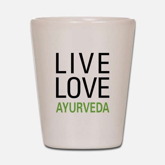 Live Love Ayurveda Shot Glass