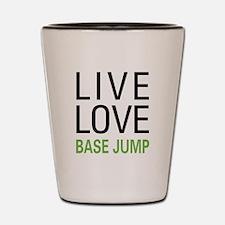 Live Love BASE Jump Shot Glass