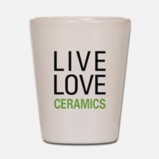 Live Love Ceramics Shot Glass