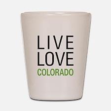 Live Love Colorado Shot Glass