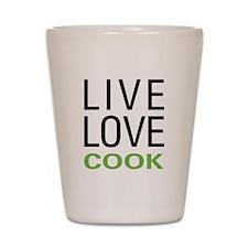 Live Love Cook Shot Glass