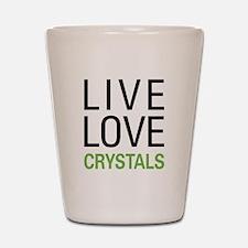 Live Love Crystals Shot Glass