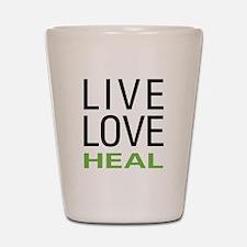 Live Love Heal Shot Glass