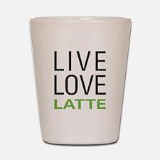 Live Love Latte Shot Glass