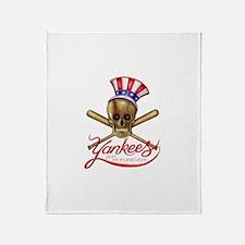 Funny Yankee Throw Blanket