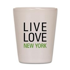 Live Love New York Shot Glass