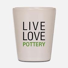 Live Love Pottery Shot Glass
