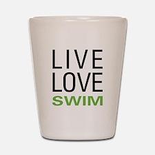 Live Love Swim Shot Glass