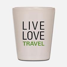 Live Love Travel Shot Glass