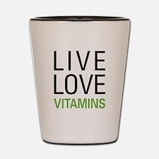Live Love Vitamins Shot Glass