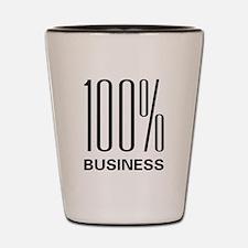 100 Percent Business Shot Glass