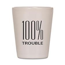 100% Trouble Shot Glass