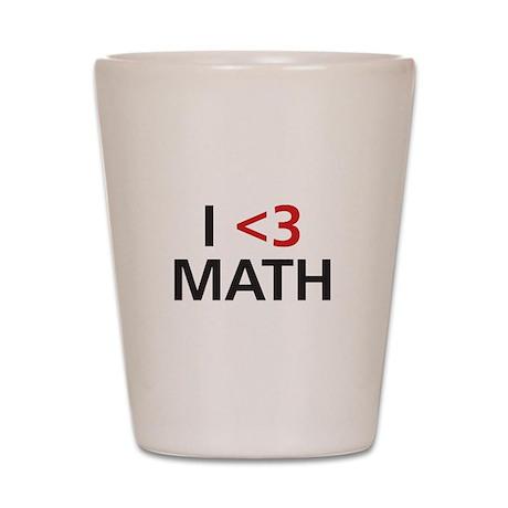 I <3 Math Shot Glass