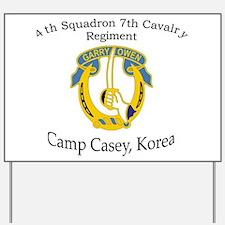 4th Squadron 7th Cavalry Yard Sign