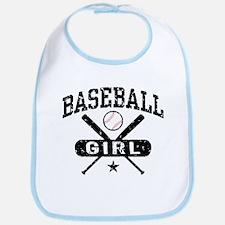 Baseball Girl Bib