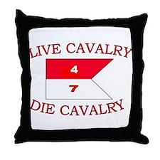 4th Squadron 7th Cavalry Throw Pillow