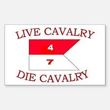 4th Squadron 7th Cavalry Sticker (Rectangle)