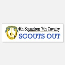 4th Squadron 7th Cavalry Bumper Bumper Sticker
