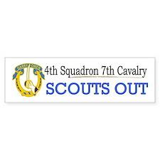 4th Squadron 7th Cavalry Bumper Sticker