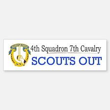 4th Squadron 7th Cavalry Sticker (Bumper)