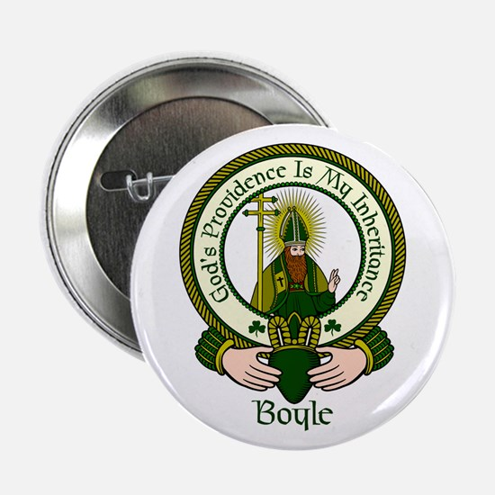 """Boyle Clan Motto 2.25"""" Button (10 pack)"""