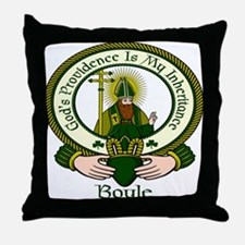 Boyle Clan Motto Throw Pillow