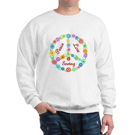 Sewing Peace Sign Sweatshirt