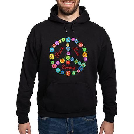 Sewing Peace Sign Hoodie (dark)