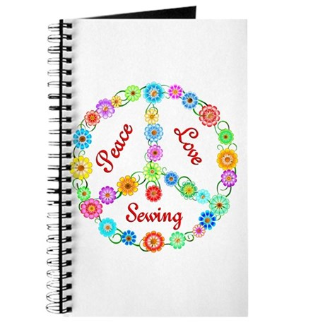 Sewing Peace Sign Journal