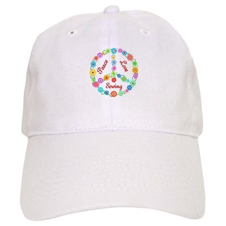 Sewing Peace Sign Cap